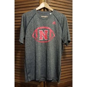 NWOT Adidas Nebraska Tee Cornhuskers Sideline Tee
